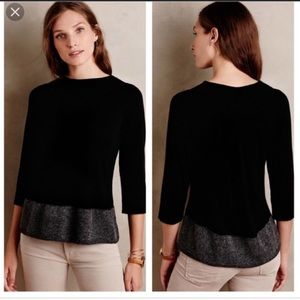 Anthropologie Angel of the North Evi Black Small
